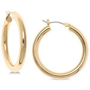 Ralph Lauren Medium Hoop Earrings in Gold Tone
